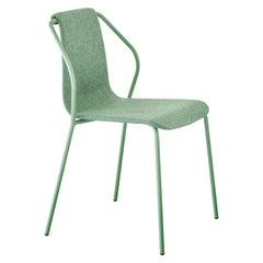 Baleri Italia Donna Indoor Chair in Green Fabric by Studio Irvine