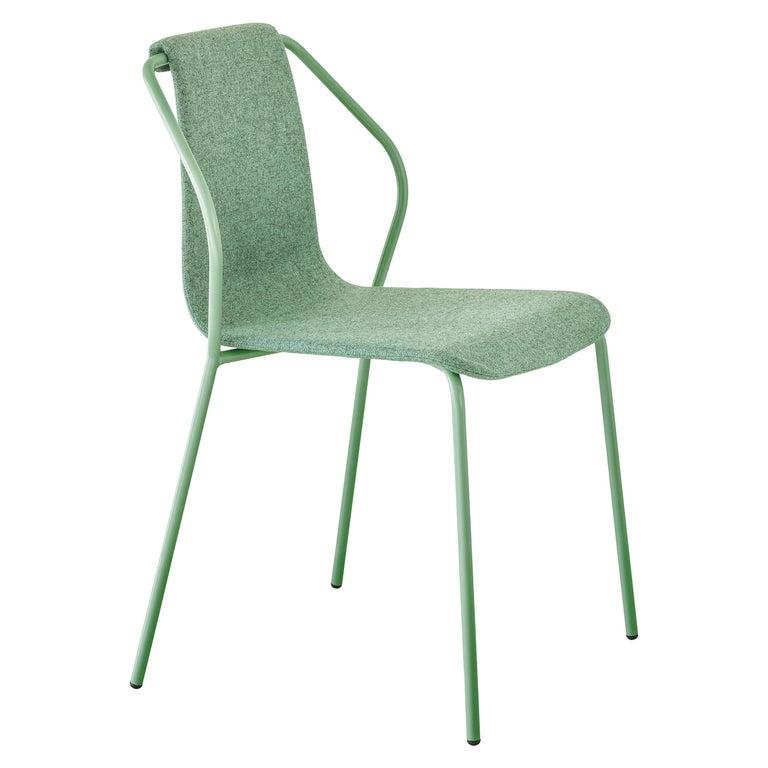 Baleri Italia Donna Indoor Chair in Green Fabric by Studio Irvine For Sale