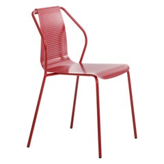 Baleri Italia Donna Outdoor Chair in Red Steel by Studio Irvine