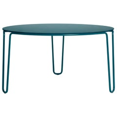 Baleri Italia First Round Table with Blue MDF Top, Baldessari & Baldessari