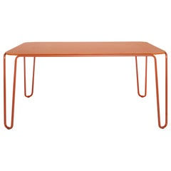 Baleri Italia First Square Table with Orange MDF Top, Baldessari & Baldessari