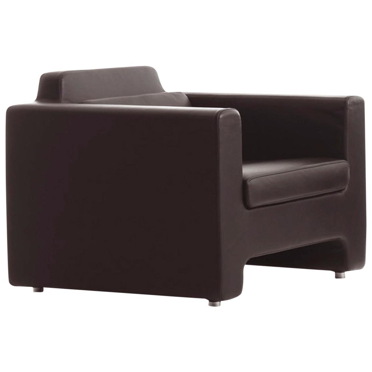 Baleri Italia Horizon Armchair in Brown Leather by Arik Levy