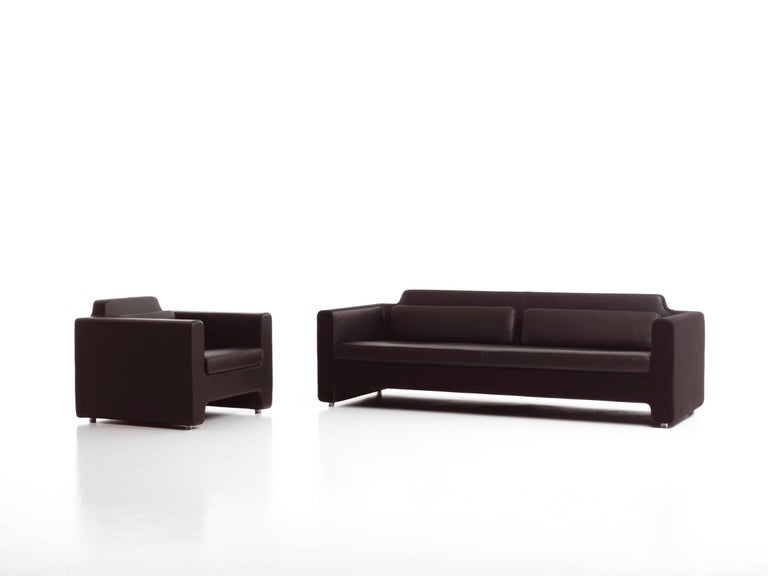 Italian Baleri Italia Horizon Sofa in Black Leather by Arik Levy For Sale