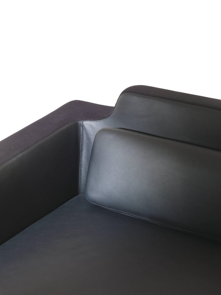 Baleri Italia Horizon Sofa in Black Leather by Arik Levy In New Condition For Sale In Telgate, IT