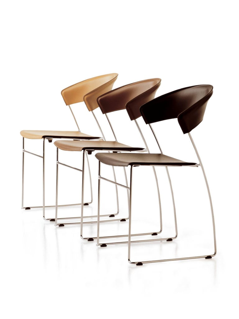 Baleri Italia Juliette Stackable Chair In Black Steel By
