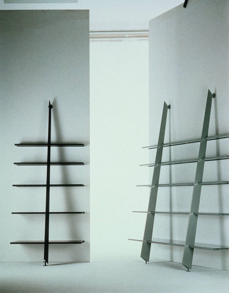 Modern Baleri Italia Mac Gee Bookshelf in Black Steel by Philippe Starck For Sale