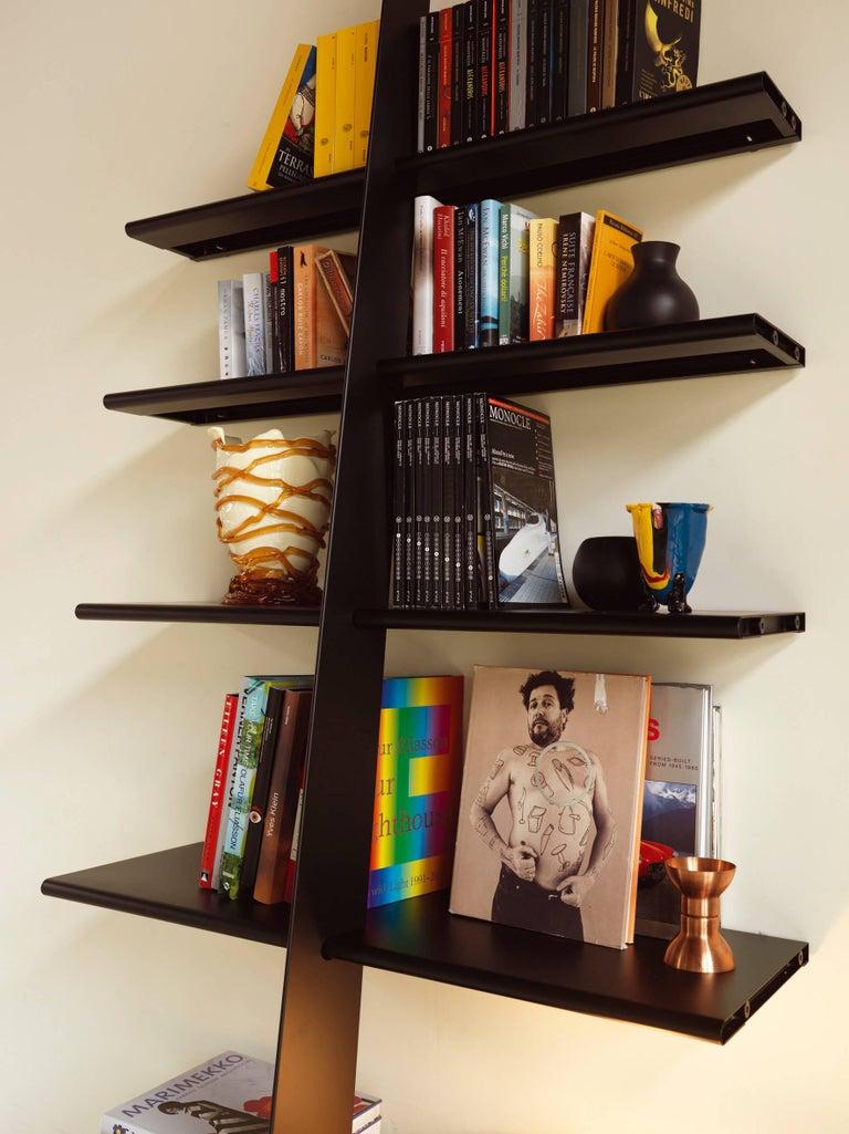 Italian Baleri Italia Mac Gee Bookshelf in Black Steel by Philippe Starck For Sale