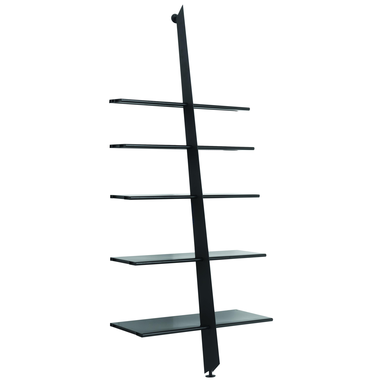 Baleri Italia Mac Gee Bookshelf in Black Steel by Philippe Starck