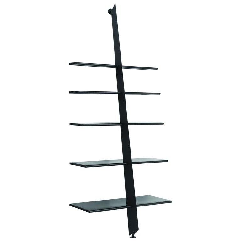 Baleri Italia Mac Gee Bookshelf in Black Steel by Philippe Starck For Sale