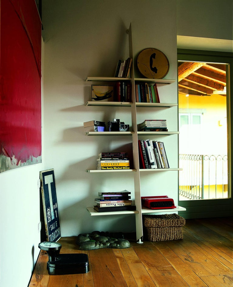 Modern Baleri Italia Mac Gee Bookshelf in White Steel by Philippe Starck For Sale