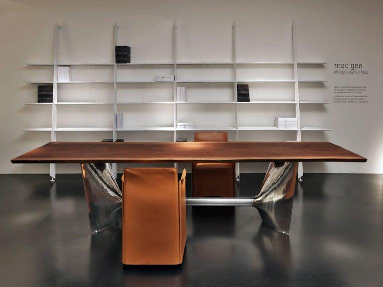 Italian Baleri Italia Mac Gee Bookshelf in White Steel by Philippe Starck For Sale