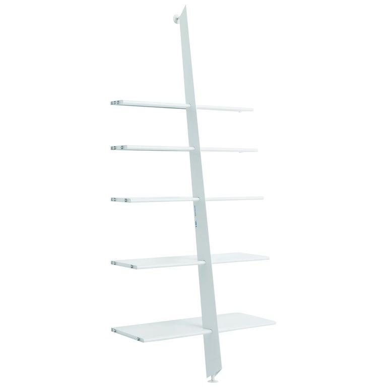 Baleri Italia Mac Gee Bookshelf in White Steel by Philippe Starck For Sale