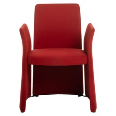 Baleri Italia Madam Armchair in Red Fabric by Radice Orlandini Designstudio
