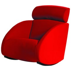 Baleri Italia Mama Armchair with headrest in Red by Denis Santachiara
