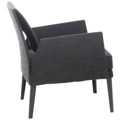 Baleri Italia Marì Armchair in Black by Luigi Baroli