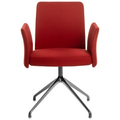 Baleri Italia Milady Armchair in Red Fabric by Radice Orlandini Design Studio