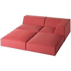 Baleri Italia Mismatch Modular Sofa in Red Fabric by Claesson Koivisto Rune
