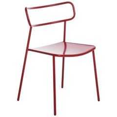 Baleri Italia Paloma Outdoor Chair in Red Steel by Radice Orlandini Designstudio