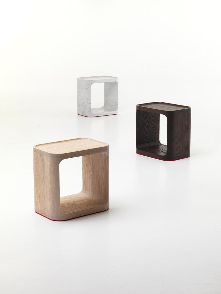 Modern Baleri Italia Plato Side Table in Carrara Marble by Jeff Miller For Sale