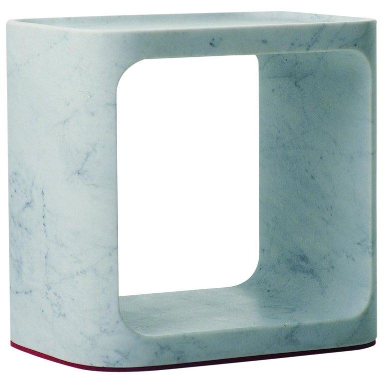 Baleri Italia Plato Side Table in Carrara Marble by Jeff Miller For Sale