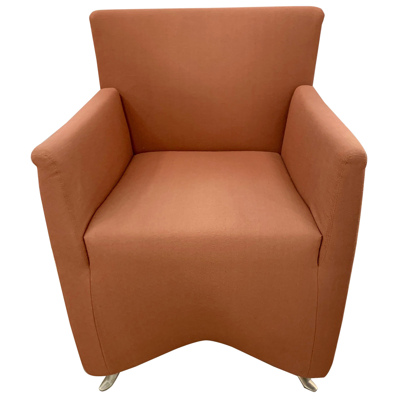 Baleri Italia Rose Upholstered Chair Midcentury Style