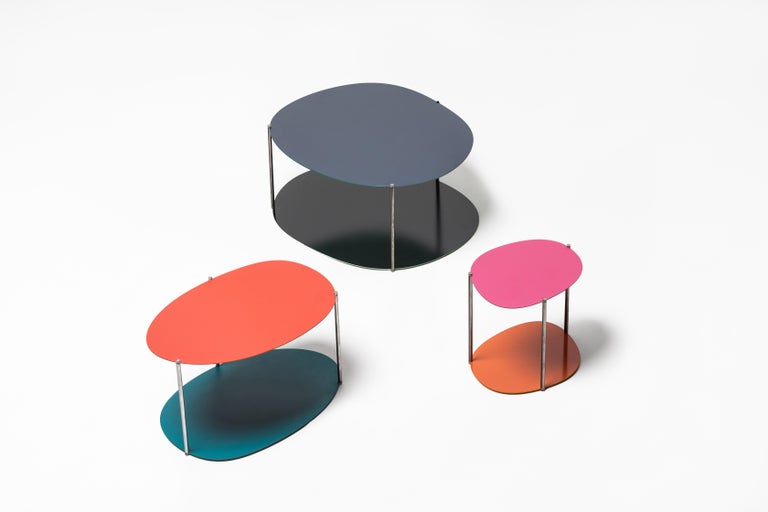 Italian Baleri Italia Small Picos Coffee Table in Steel by Claesson Koivisto Rune For Sale