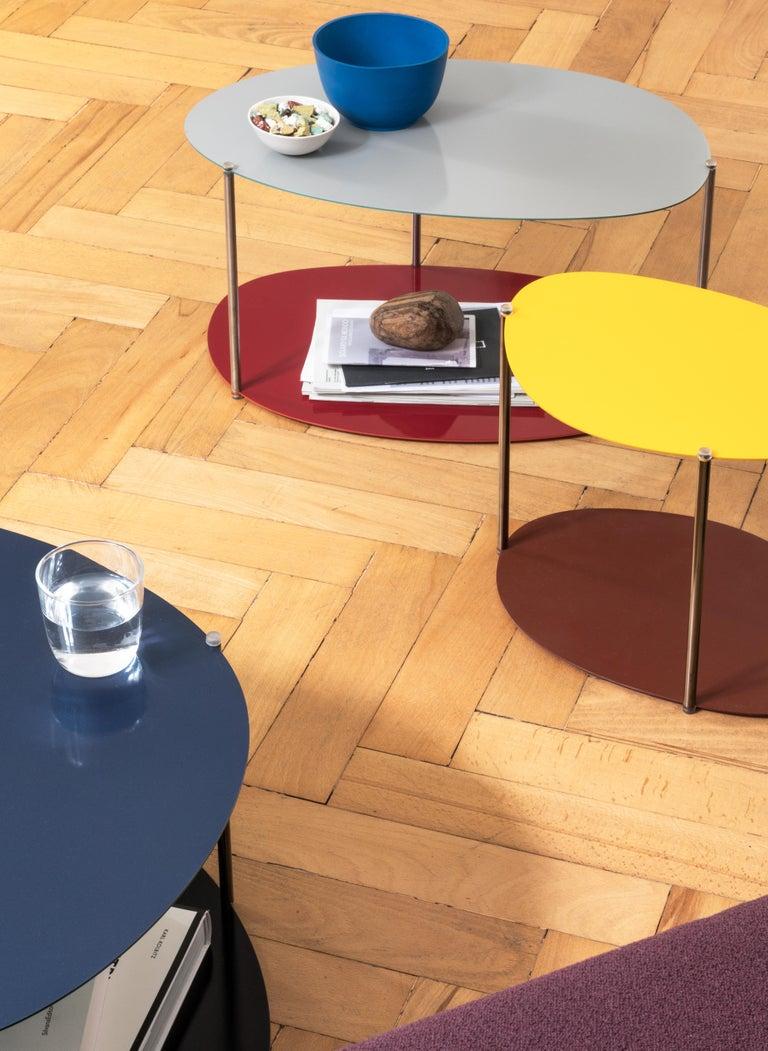 Baleri Italia Small Picos Coffee Table in Steel by Claesson Koivisto Rune In New Condition For Sale In Boltiere, BG