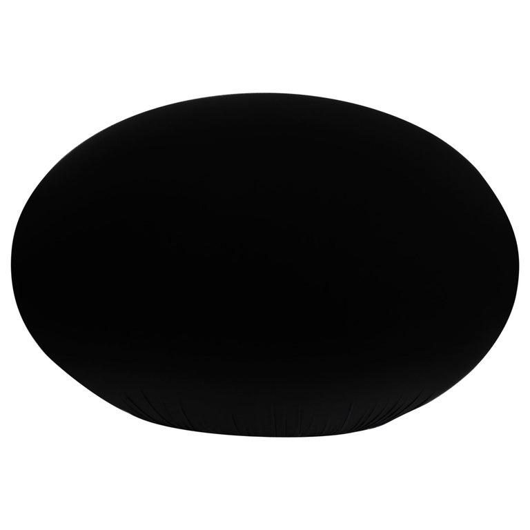 Baleri Italia Tato Pouf in Black Fabric by Denis Santachiara For Sale