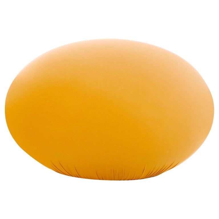 Baleri Italia Tato Pouf in Yellow Saffron Fabric by Denis Santachiara For Sale