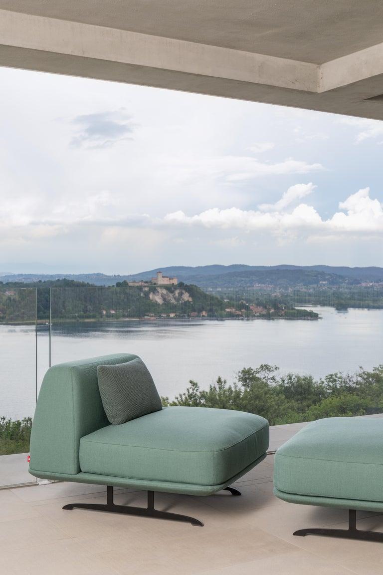 Italian Baleri Italia Trays Armchair in Blue Fabric by Parisotto + Formenton For Sale