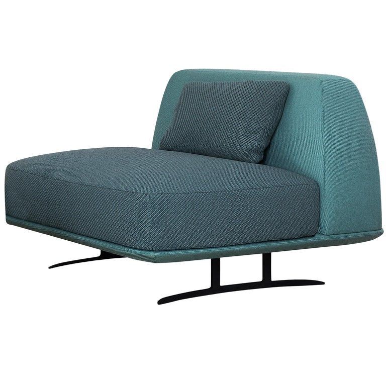 Baleri Italia Trays Armchair in Blue Fabric by Parisotto + Formenton For Sale