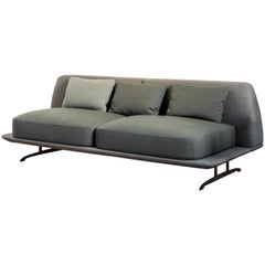 Baleri Italia Trays Loveseat Sofa in Fabric by Parisotto + Formenton