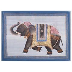 Balinese Elephant Painting on Silk