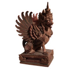 Last chance clearance sale.  Balinese Winged Lion Guardian Indonesian Art