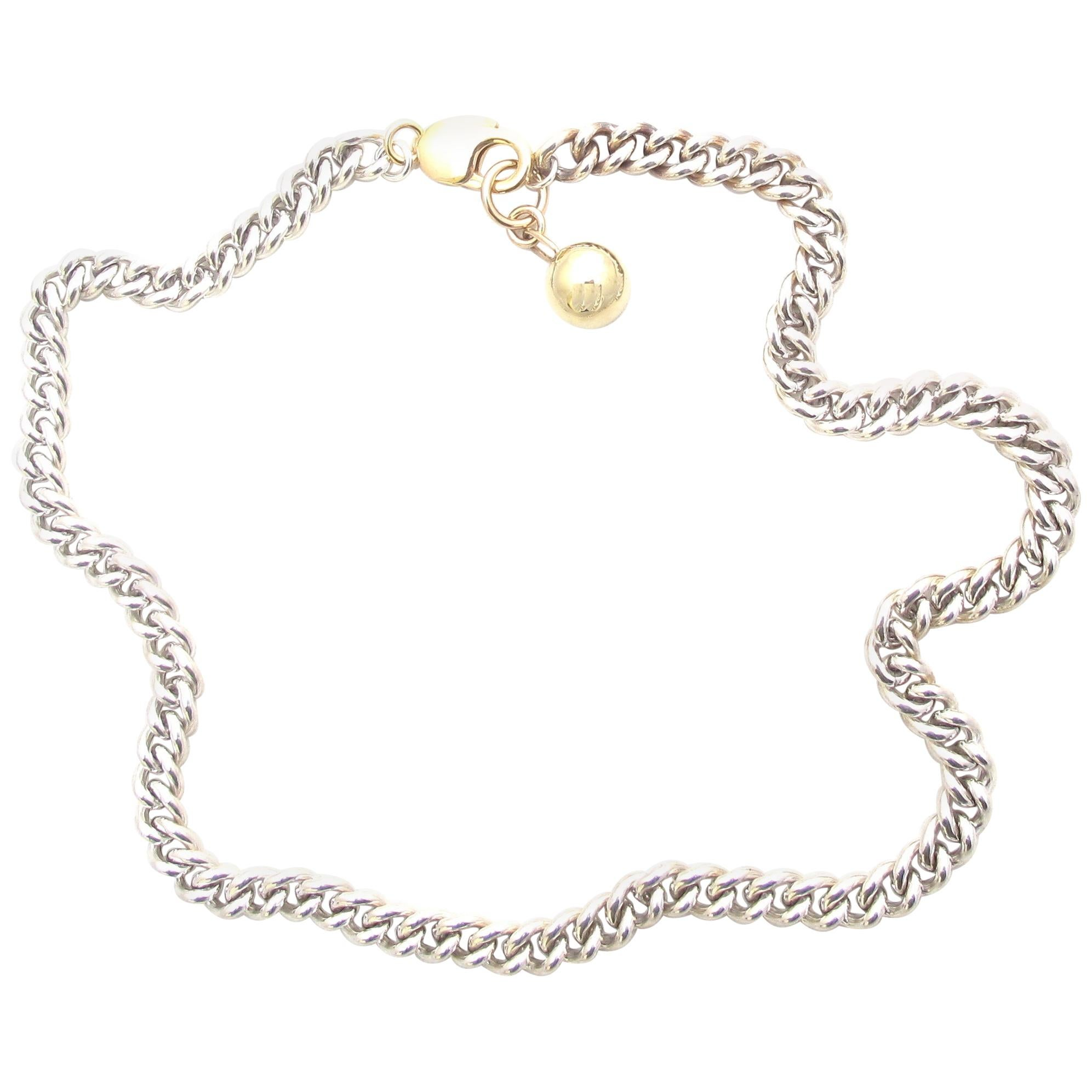 Jacqueline Rose Ball and Curb Chain Necklace