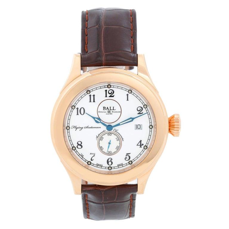 Ball Flying Scotsman 18 Karat Rose Gold Men's Watch NM2198D-PG-LCJ-WH For Sale