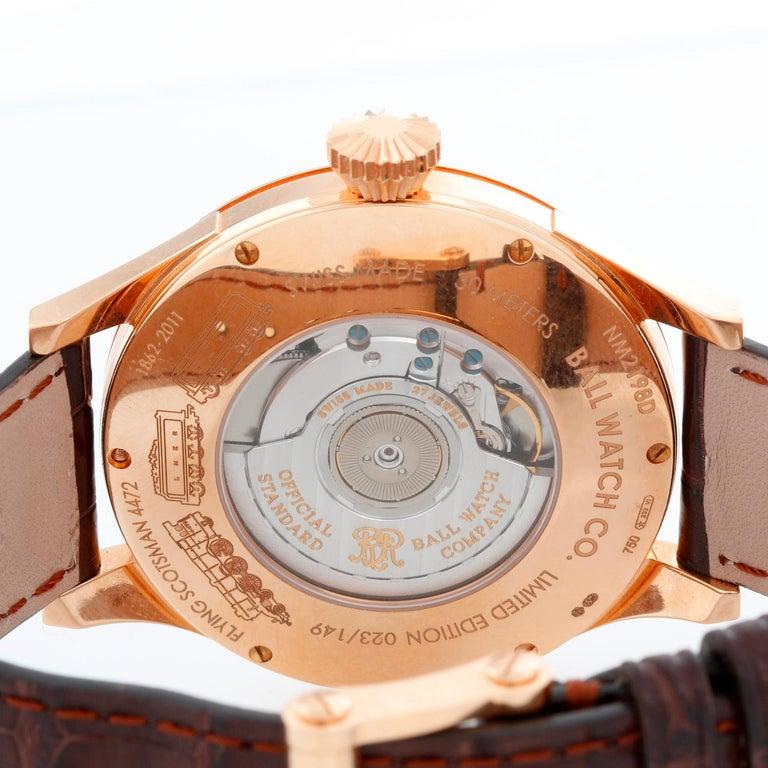 Ball Flying Scotsman 18 Karat Rose Gold Men's Watch NM2198D-PG-LCJ-WH For Sale 1