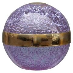 Ball Vase Italian Design Wisteria Taddei 1970s Silver Applications