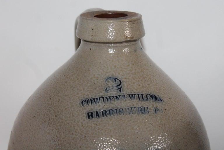 Adirondack Ballard & Brothers / Vermont 1 Gal Decorated Stoneware Jug For Sale