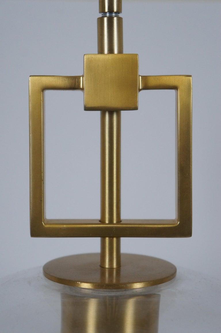 Ballard Designs Modern Fiona Glass Pendant Ceiling Bar Light Globe Brass 45 For Sale 2