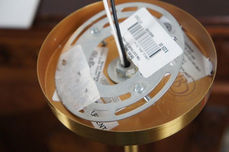 Ballard Designs Modern Fiona Glass Pendant Ceiling Bar Light Globe Brass 45 For Sale 5