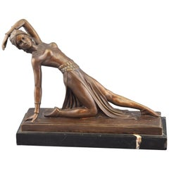 'Ballerina' Bronze, Marble after Models of DH Chiparus