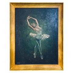 Ballerina Dancer Oil on Canvas