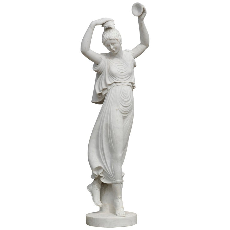 Ballerina Statue in Acquabianco Marble by Kreoo For Sale