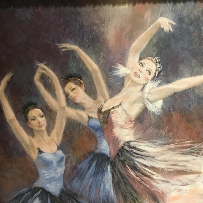 "Paint ""Ballerinas"" by Nenad Mirkovich acrylic painting For Sale"