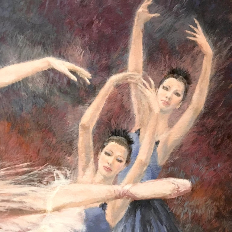 """Ballerinas"" by Nenad Mirkovich acrylic painting For Sale 1"