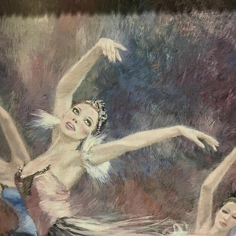"""Ballerinas"" by Nenad Mirkovich acrylic painting For Sale 4"