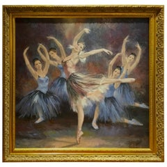 """Ballerinas"" by Nenad Mirkovich acrylic painting"