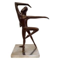 Ballet Dancers Sculpture, Unknown Artist, 1970s