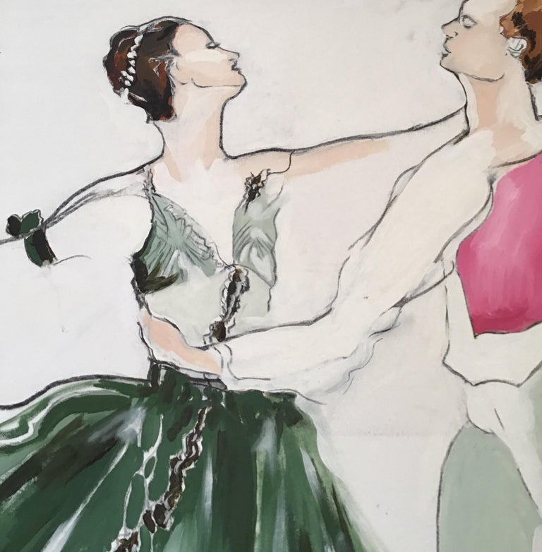 Late 20th Century Ballet Painting Large Scale For Sale